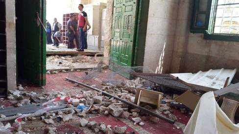 Interior of al Aqsa mosque after israeli occupational forces raided it - unknown photographer